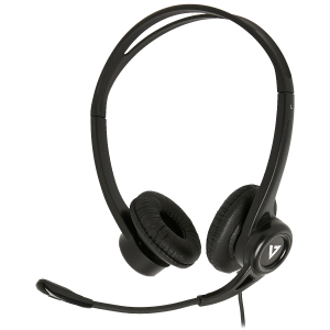 V7 Essentials USB Stereo Headset with Microphone