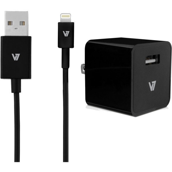 V7 12W USB Wall-Charger with Lightning Cable
