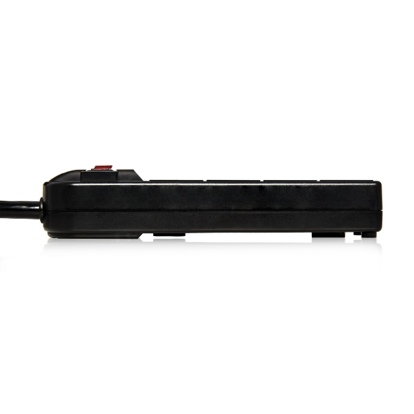 V7 4-Outlet Home/Office Surge Protector, 450 Joules - Black