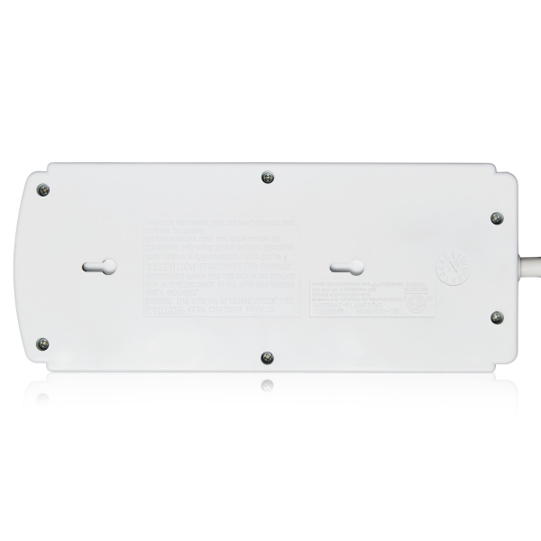 V7 8-Outlet Home/Office Surge Protector, 1800 Joules - White