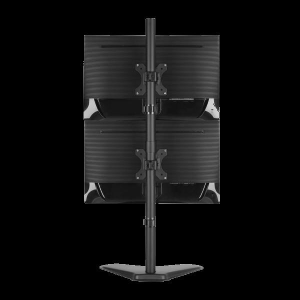V7 Dual Monitor Stacking Desk Stand, VESA