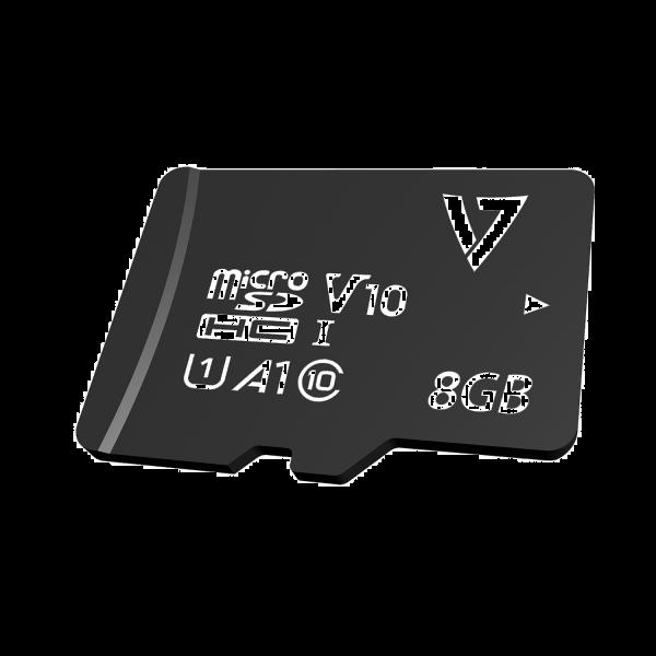 8GB Class 10 Micro SDHC Card + Adapter
