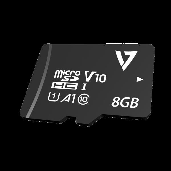 8GBClass10microSDHC-Karte + Adapter