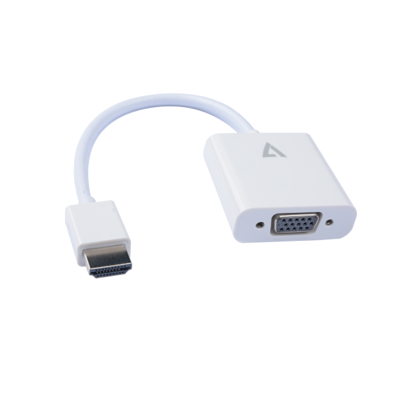 V7 White Video Adapter HDMI Male to VGA Female