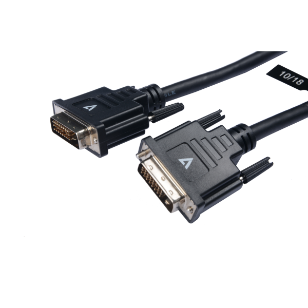 V7 Black Video Cable DVI-D Male to DVI-D Male 5m 16.4ft