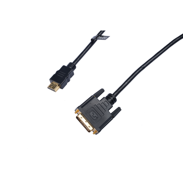 V7 Black Video Cable HDMI Male to DVI-D Male 2m 6.6ft