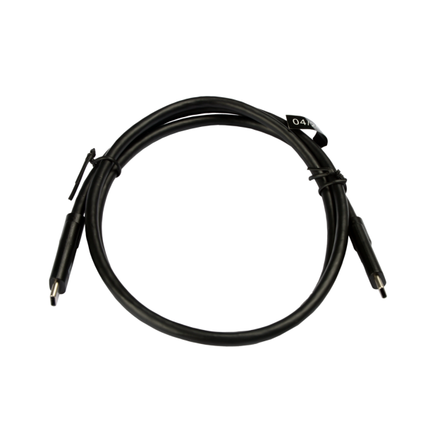 Black USB Cable USB-C Male to USB-C Male