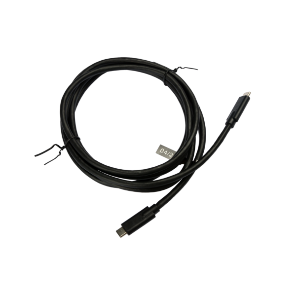 V7 Black USB Cable USB-C Male to USB-C Male 2m 6.6ft