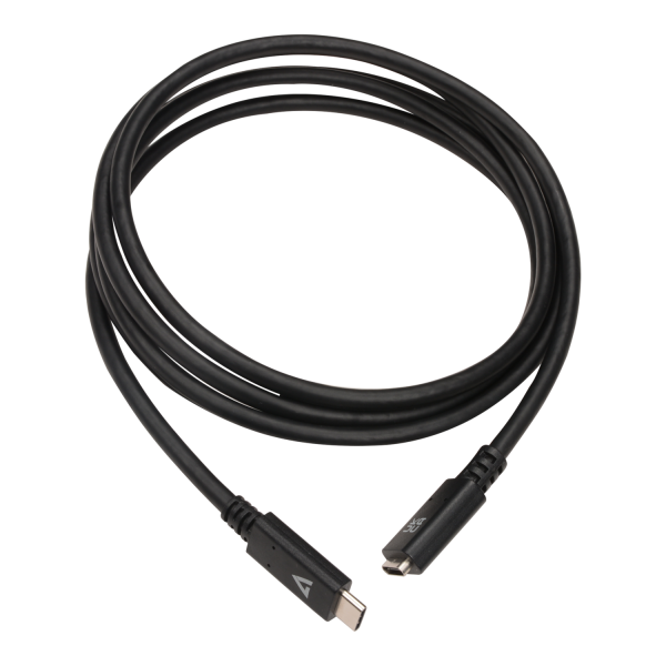 USB-C Female to USB-C Male USB 3.2 Gen1 Extension Cable 5 Gbps downstream 2m/6.6ft Black
