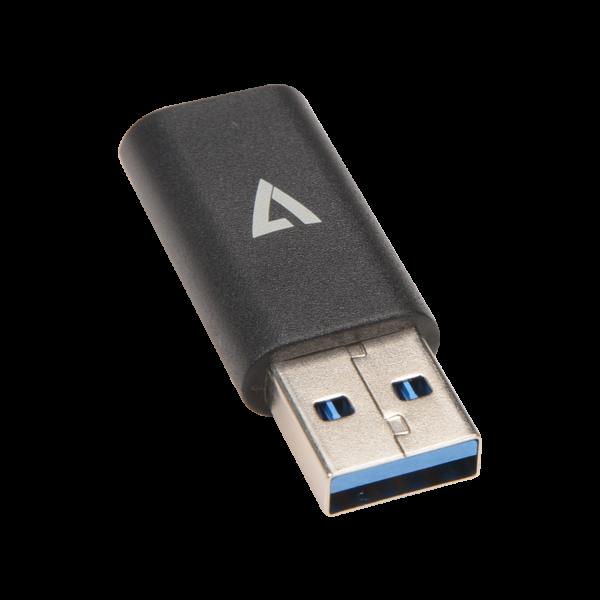 USB A Male to USB-C Female USB 3.2 Gen2 10 Gbps Black