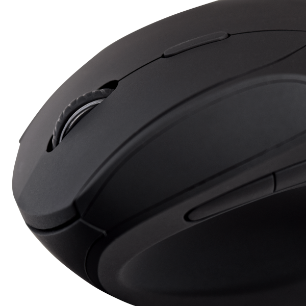 V7 2.4Ghz Wireless Ergonomic Mouse - Black