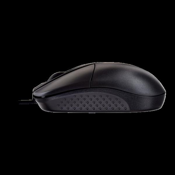 Contoured USB Optical Mouse - Black