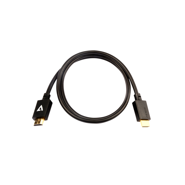V7 Black Video Cable Pro HDMI Male to HDMI Male 1m 3.3ft