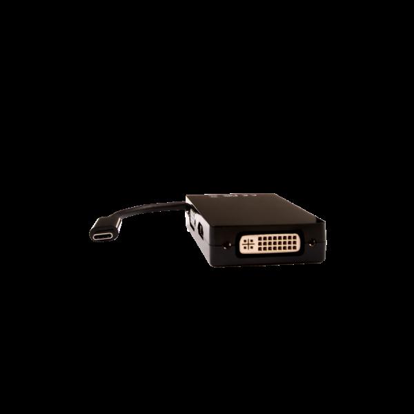 USB-C Male to VGA Female, DVI Female, HDMI 1.4 Female HDMI: 9Gbps 4K UHD