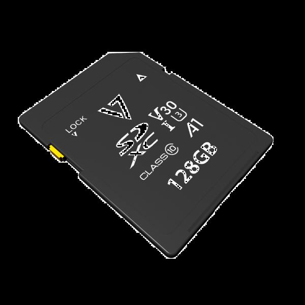 Tarjeta SDXC V30 U3 A1 CL10 4K UHD-MAX de 128GB