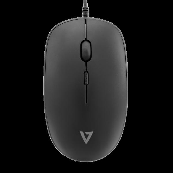 V7 Set USB Tastatur und Maus - schwarz - FR
