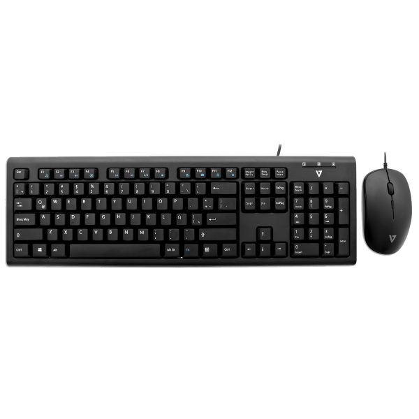 USB Wired Keyboard and Mouse Combo - Black - MX