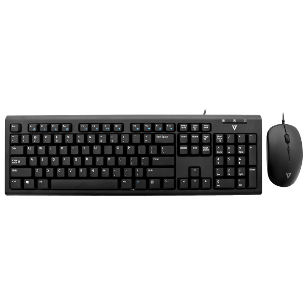 USB Wired Keyboard and Mouse Combo - Black - US