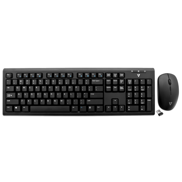 Wireless Keyboard and Mouse Combo - Black - US