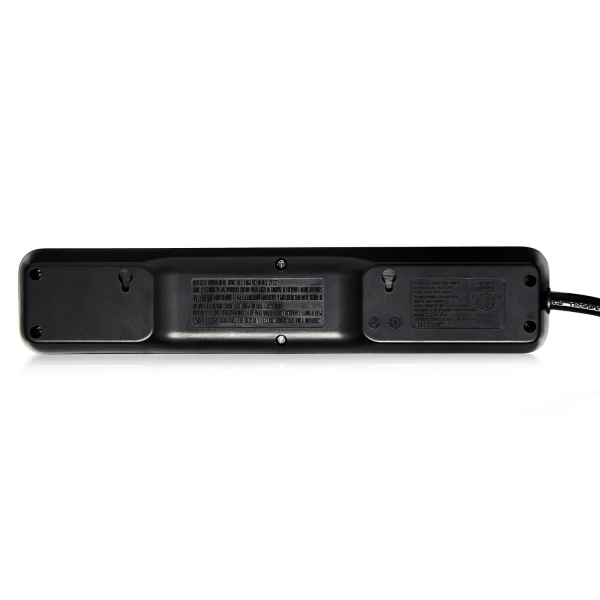 V7 6-Outlet Home/Office Surge Protector, 900 Joules - Black