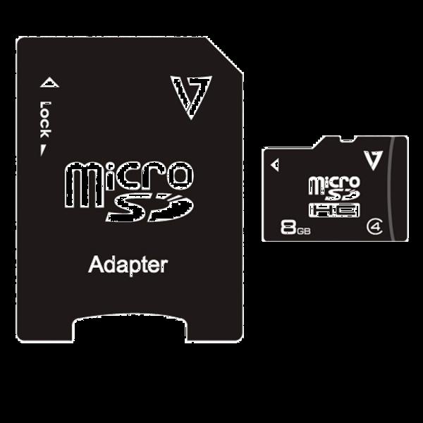 8GB Class 4 Micro SDHC Card + Adapter