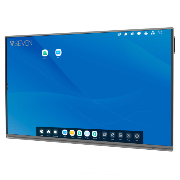 V7 Interactive Flat Panel (IFP) - 75 Inch 4K Android 9 Display