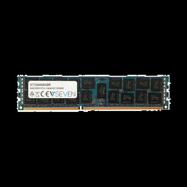 V7 8GB DDR3 PC3-10600 - 1333mhz 1.35V SERVER ECC REG Server Memory Module - V7106008GBR