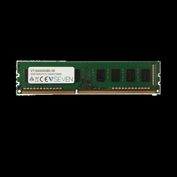 4GB DDR3 PC3-10600 - 1333Mhz DIMM Desktop Memory Module - V7106004GBD-SR