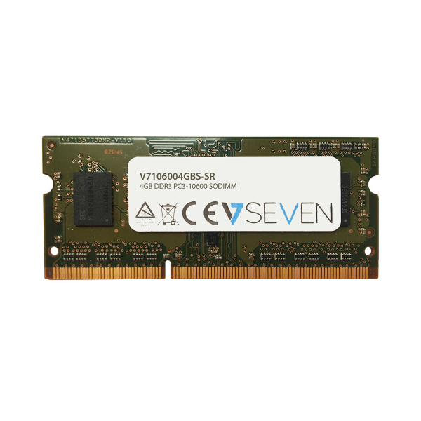 V7 4GB DDR3 PC3 10600 1333MHZ SO DIMM Notebook Memory Module  V7106004GBS-SR