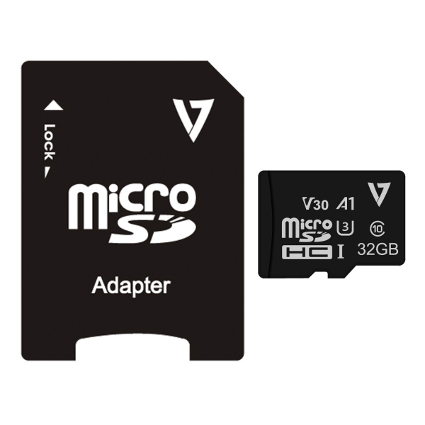 32GB UHS-3 V30 A1 Micro SDHC Card + Adapter