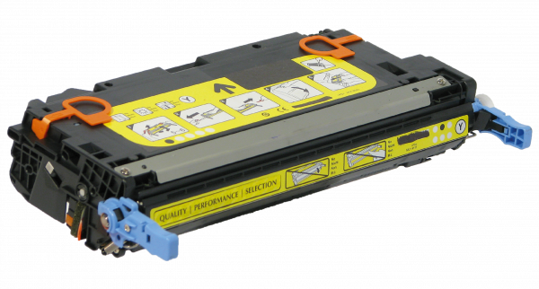 Toner Cartridge, Yellow for select HP Printer - Replaces Q6472A