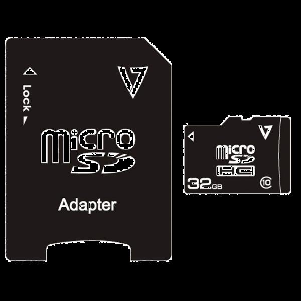 32GB Class 10 Micro SDHC Card + Adapter